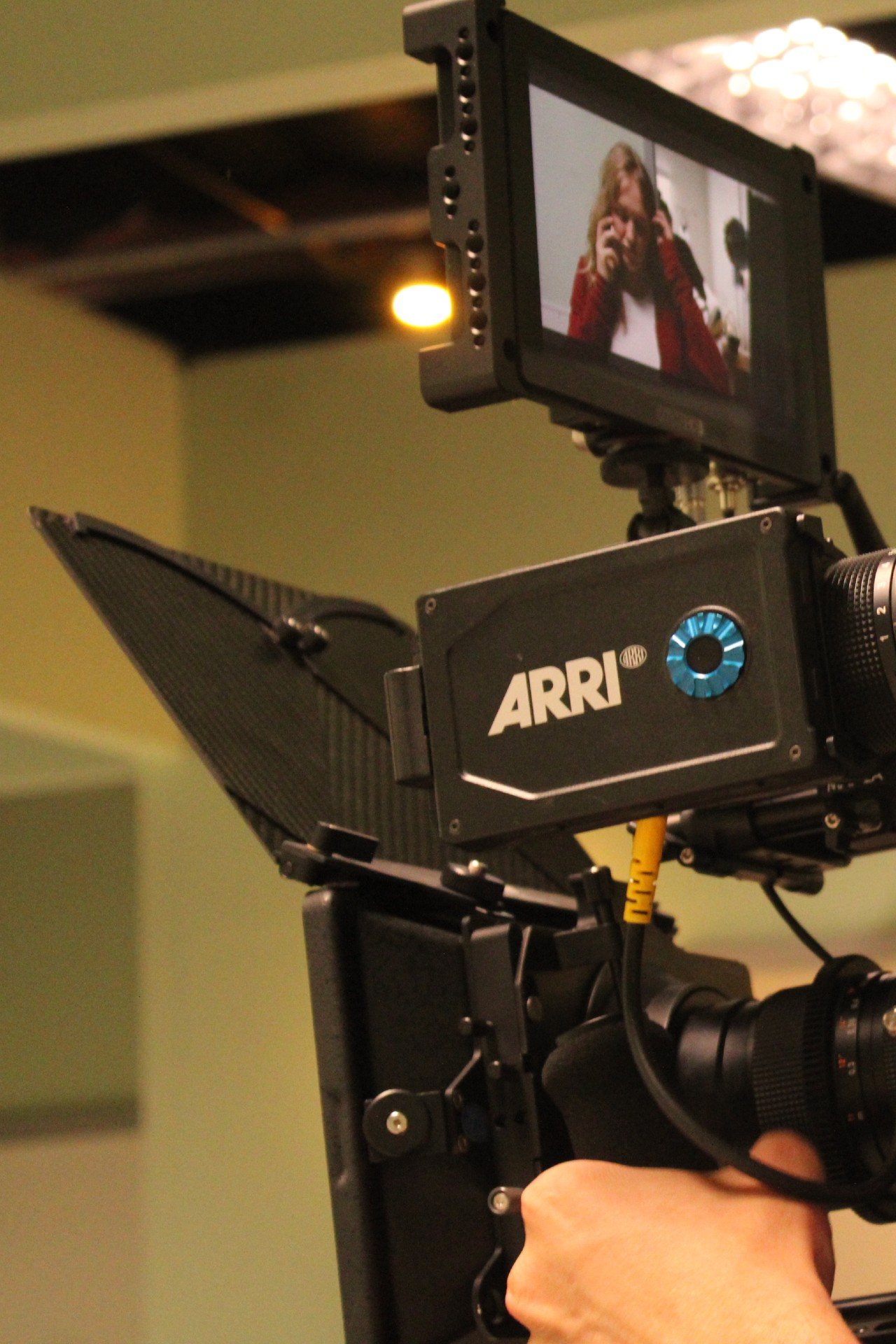Behind the scenes image of the Arri camera Snakebyte Productions used on a feature film.